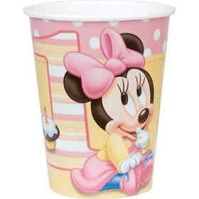Minnie Mouse 1st Birthday Cups (8-pack)