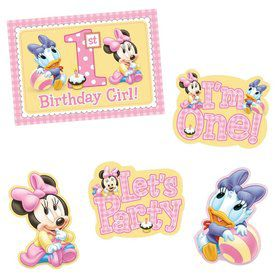 Minnie Mouse 1st Birthday Decorating Kit (Each)