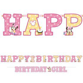 Minnie Mouse 1st Birthday Letter Banner Combo (Each)
