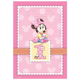 Minnie Mouse 1st Birthday Loot Bags (8 Pack)
