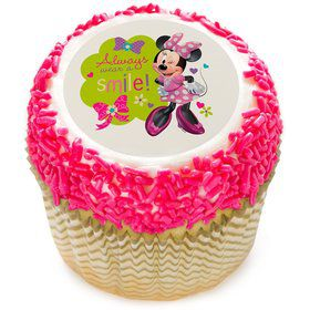 "Minnie Mouse 2"" Edible Cupcake Topper (12 Images)"