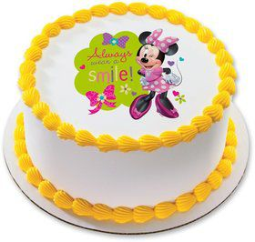 "Minnie Mouse 7.5"" Round Edible Cake Topper (Each)"