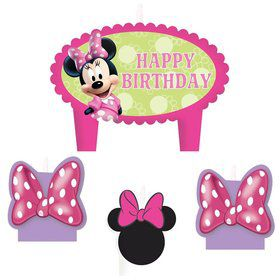 Minnie Mouse Birthday Candle Set (4 Pack)