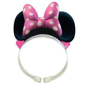 Minnie Mouse Ears Paper Headbands w/ Bow (8 Pack)
