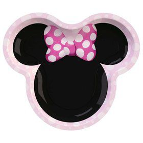 Minnie Mouse Forever Shaped Lunch Plates (8)