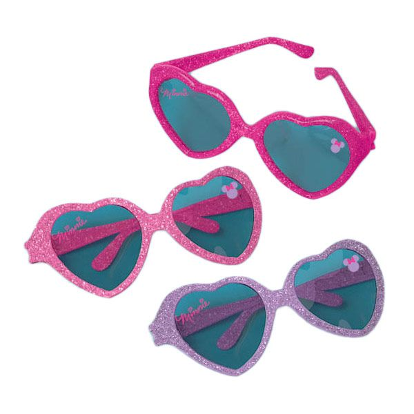 Minnie Mouse Heart Glasses (6 Pack) - Party Supplies BB390430