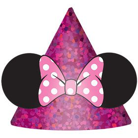 "Minnie Mouse Helpers 6"" Cone Hats (8)"