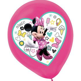 Minnie Mouse Helpers Latex Balloons (5)