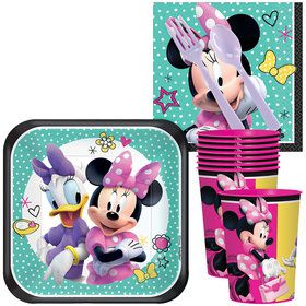 Minnie Mouse Helpers Standard Tableware Kit With Plastic Favor Cups (Serves 8)