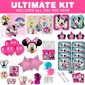 Minnie Mouse Helpers Ultimate Tableware Kit (Serves 8)