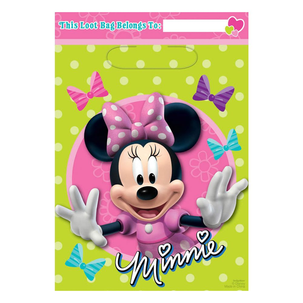 Minnie Mouse Lootbags (8 Pack) - Party Supplies BB370597