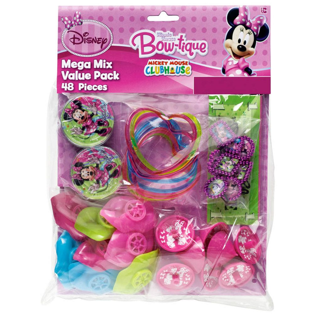 Minnie Mouse Mega Mix Favor Pack (For 8 Guests) - Party Supplies BB396597