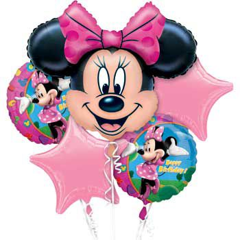 Minnie Mouse Mylar Balloon Bouquet (Each) BB021467