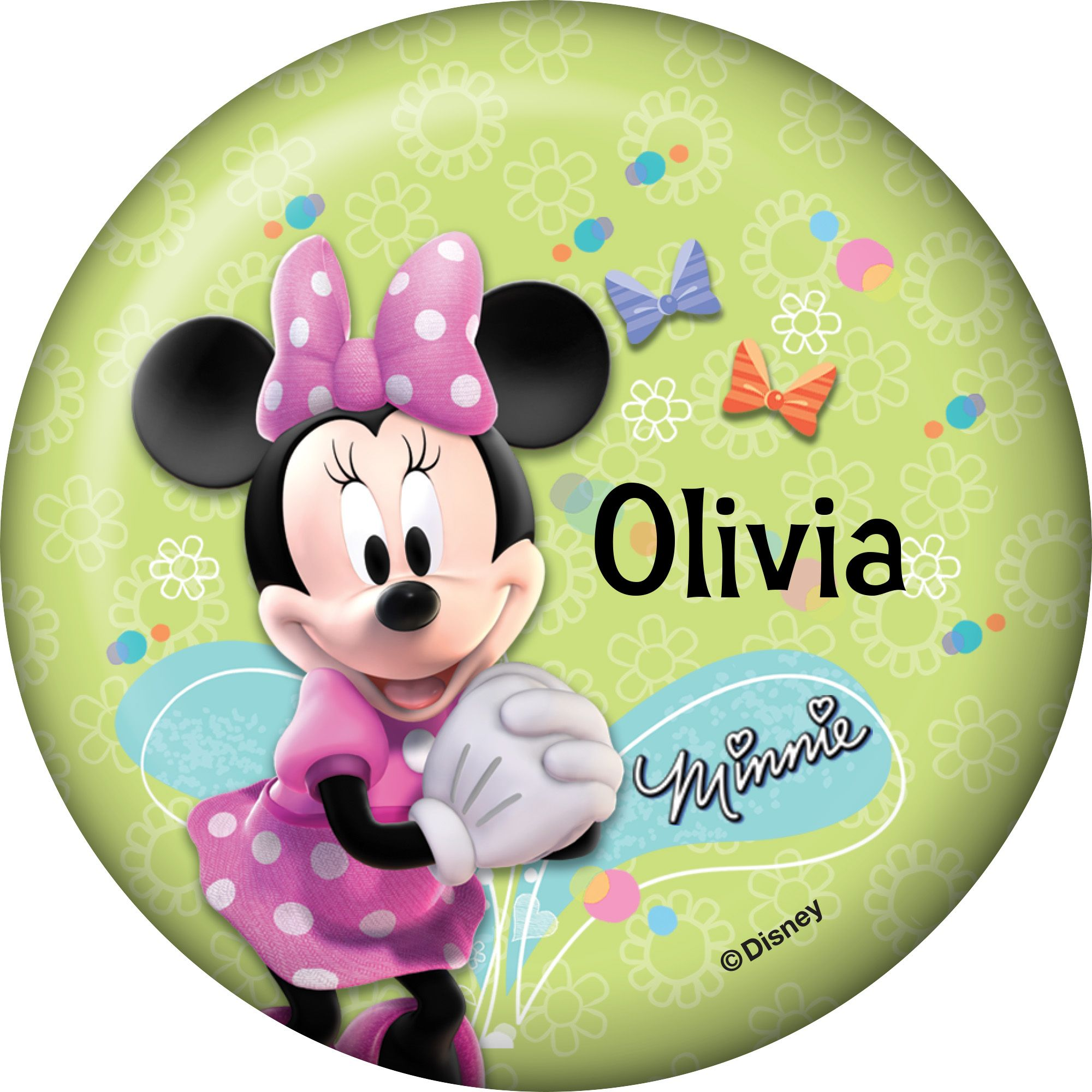 Minnie Mouse Personalized Button (Each) BB1332BT