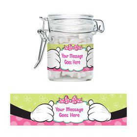 Minnie Mouse Personalized Glass Apothecary Jars (10 Count)