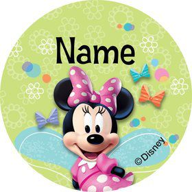 Minnie Mouse Personalized Mini Stickers (Sheet of 24)