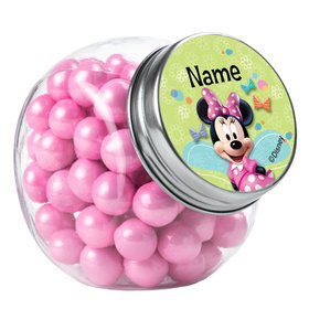 Minnie Mouse Personalized Plain Glass Jars (10 Count)