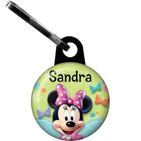Minnie Mouse Personalized Zipper Pull (Each)