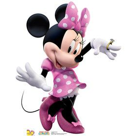 Minnie Mouse Pink Dress Cardboard Standup
