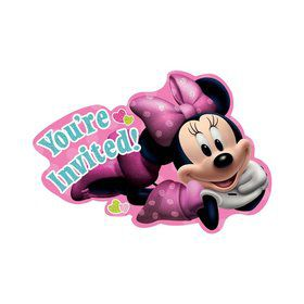 Minnie Mouse Postcard Invitations (8 Pack)