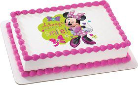 Minnie Mouse Quarter Sheet Edible Cake Topper (Each)