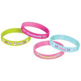 Minnie Mouse Rubber Bracelet Favors (4 Pack)