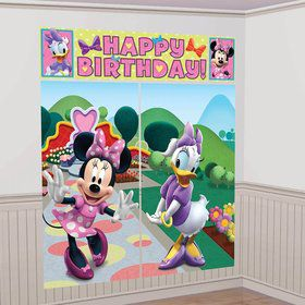 Minnie Mouse Scene Setter Wall Decorating Kit (Each)