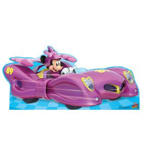 Minnie Roadster Car Cardboard Standup