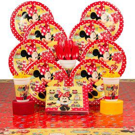 Minnie's Cafe Birthday Party Deluxe Tableware Kit Serves 8