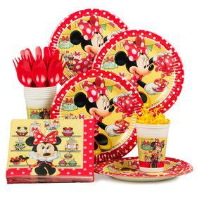 Minnie's Cafe Birthday Party Standard Tableware Kit Serves 8