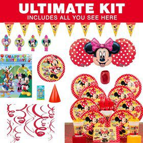 Minnie's Cafe Birthday Party Ultimate Tableware Kit Serves 8