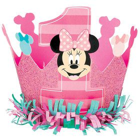 Minnie's Fun To Be One Glitter Crown (Each)