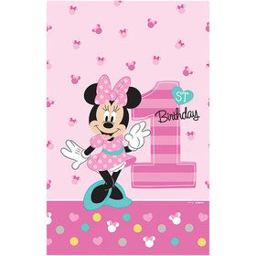 Minnie's Fun To Be One Plastic Table Cover (Each)