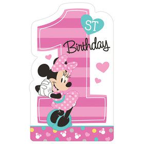 Minnie's Fun To Be One Postcard Invitations (8 Count)