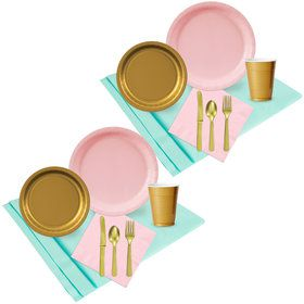 Mint Pink Gold Party Pack (48)