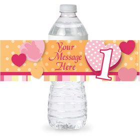 Miss Mouse 1st Birthday Personalized Bottle Label (Sheet of 4)