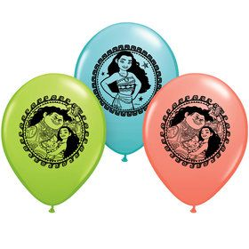 "Moana 12"" Latex Balloons (6 Count)"