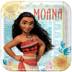 "Moana 9"" Lunch Plate (8 Count)"