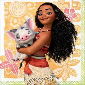 Moana Beverage Napkin (16 Count)