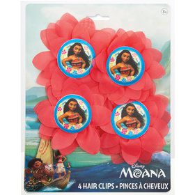 Moana Flower Hair Clips (4)
