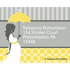 Mod Baby Shower Personalized Address Labels (Sheet of 15)