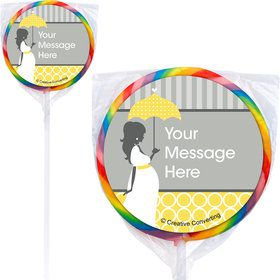 Mod Baby Shower Personalized Lollipops (12 Pack)