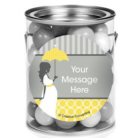 Mod Baby Shower Personalized Mini Paint Cans (12 Count)