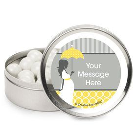 Mod Baby Shower Personalized Mint Tins (12 Pack)