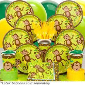 Monkey Around Birthday Party Deluxe Tableware Kit Serves 8