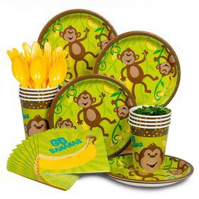 Monkey Around Birthday Party Standard Tableware Kit Serves 8