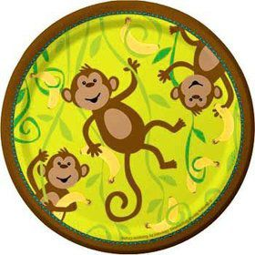 Monkey Around Cake Plates (8-pack)