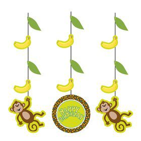 Monkey Around Dangling Cutout (3-pack)