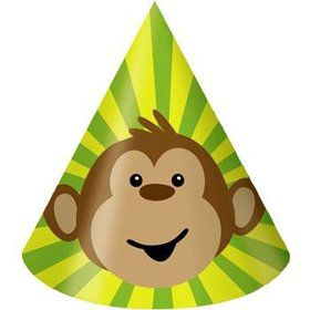 Monkey Around Party Hats (8-pack)