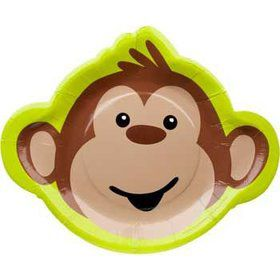 Monkey Around Shaped Dinner Plate (8-pack)